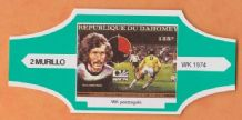 1974 World Cup Cigar Band West Germany Paul Breitner (Green)
